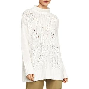 BCBG Max Azria Womens Tunic Sweater Sequined Turtl